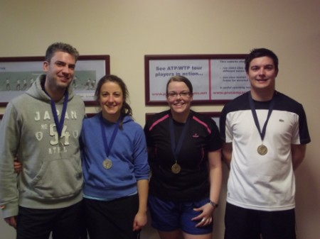 L to R: Runners Up Patrick & Catherine; Winners Tanja & Philip